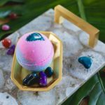 Moonsparkle Bath Bomb Unicorn Stones Chakra Stones Healing Crystal Bath Bomb Collection Cruelty Free Bridesmaid Stress Anxiety Relief