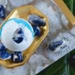 Sodalite Bath Bomb | Anxieties End Stone Intuition Tarot Healing Crystal Bath Bomb Collection Cruelty Free Bridesmaid Party Favor
