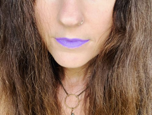 Just wear the purple lipstick. 🔮💜🦄